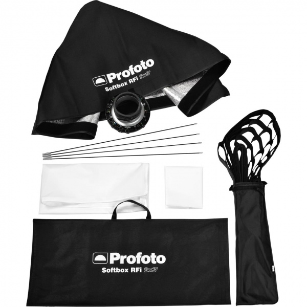 Kit RFi 2x3 : RFi Softbox 60x90 cm+ Nid-d'ab. 50° + Speedring